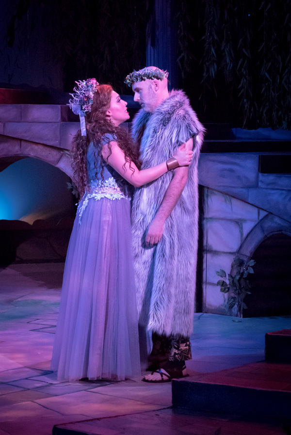 Catherine LeFrere and Kevin McKillip in A Midsummer Night's Dream. Photo by Dave Bonnot.