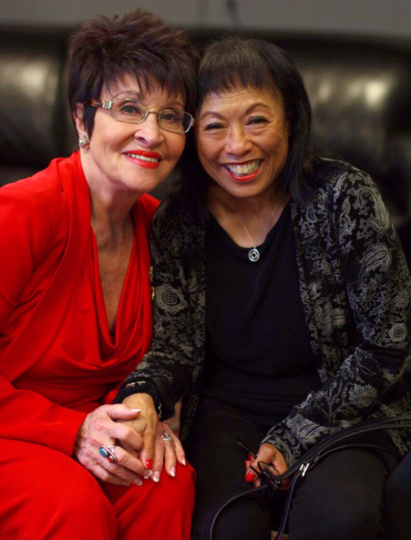Broadway legend Chita Rivera with Broadway performer, director, and choreographer Baayork Lee, both of whom were honored this year by the League of Professional Theatre Women and their Oral History ev