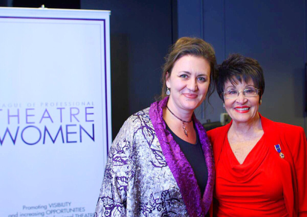 Lisa Rothe, co-President of the League of Professional Theatre Women, with Broadway icon Chita Rivera   Photo credit: Kacey Stamats