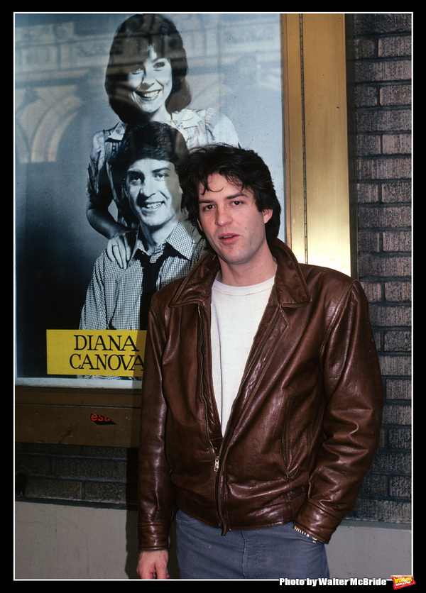 Ted Wass from 'They're Playing Our Song' starring with Diana Canova at the Imperial Theatre Stage door in New York City in 1981.