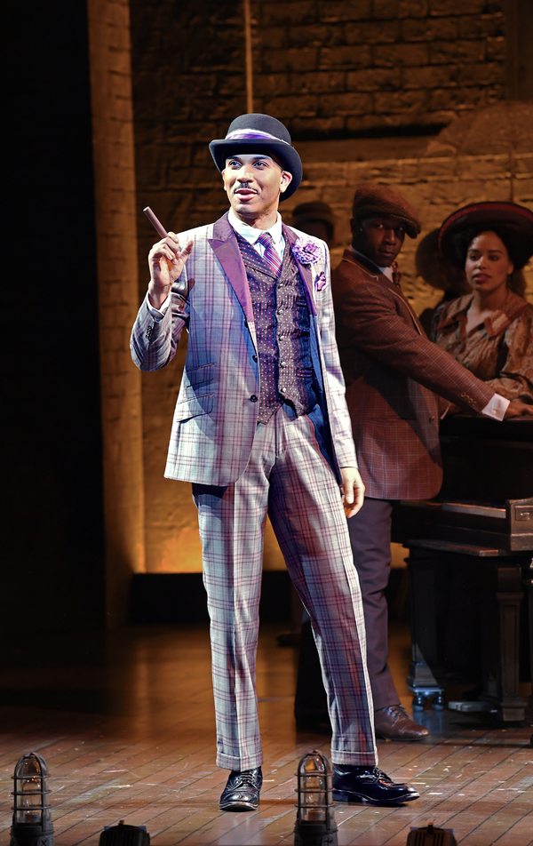 Jared Joseph (front), and Alfie Parker Jr. and Jade Turner (back) in Asolo Rep's production of RAGTIME. Photo by Cliff Roles.