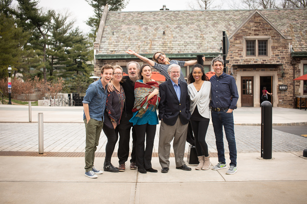 Emily Mann, Christopher Durang, and the Cast of Turning Off the Morning News