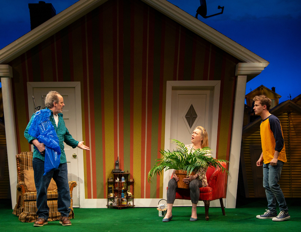 Turning Off The Morning News McC 5-18 057 Turning Off The Morning News, by Christopher Durang, directed by Emily Mann at McCarter Theatre  5/3/18 Costume Design: Jennifer von Mayrhauser Lighting Design: Jeff Croiter Scenic Design: Beowulf Borrit  Photo Cr
