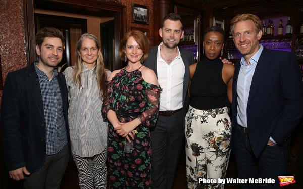 Harry Potter and the Cursed Child: designers Brett J. Banakis and Christine Jones, with company members Poppy Miller, Alex Price, Noma Dumezweni, and Paul Thornley