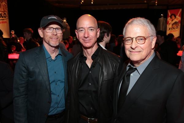 Ron Howard, Jeff Bezos, Lawrence Kasdan