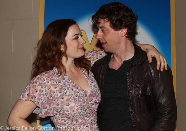 Laura Michelle Kelly and Christian Borle