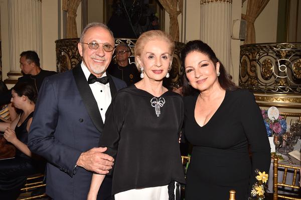 Emilio Estefan, Carolina Herrera, and Gloria Estefan
