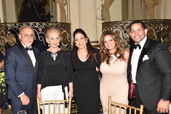 Emilio Estefan, Carolina Herrera, Gisell Torres, Marcos Torres and Gloria Estefan