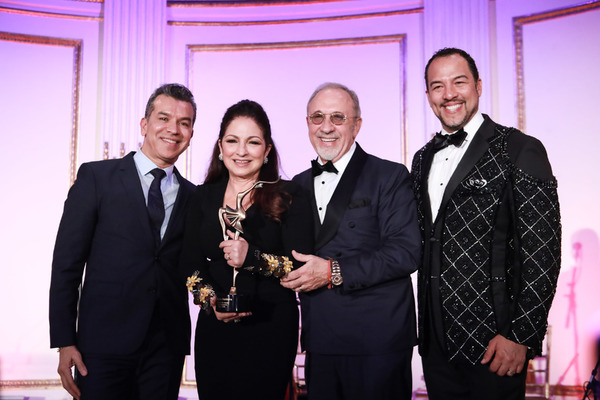 Sergio Trujillo, Eduardo Vilaro, and Emilio and Gloria Estefan