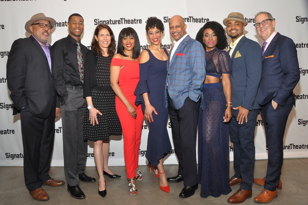Keith Randolph Smith, J. Alphonse Nicholson, Paige Evans (Artistic Director of Signature Theatre),  Simone Missick, Dominique Morisseau(Playwright), Ruben Santiago-Hudson (Director), Kristolyn Lloyd, Francois Battiste, & Harold Wolpert (Executive Director