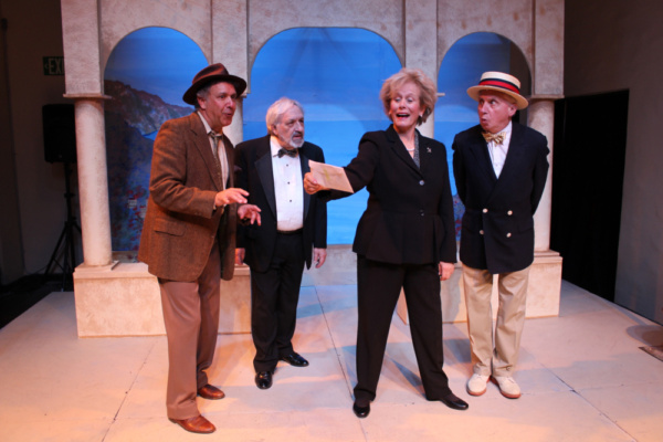 Gary Lamb as Sir Toby Belch, Barry Gordon as Feste, Mary Chalon as Maria, Lance Davis as Sir Andrew Aguecheek