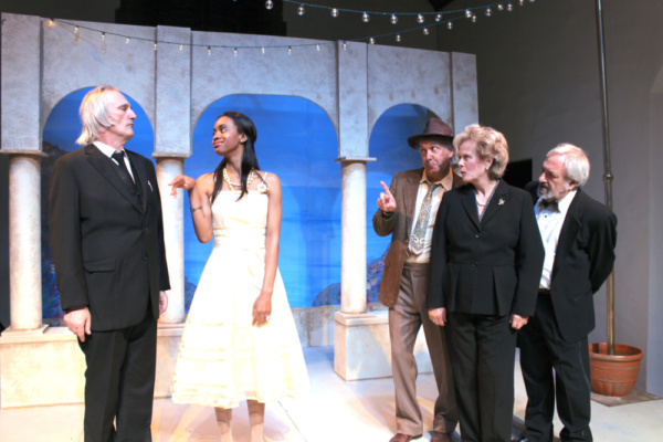 John Rafter Lee as Malvolio, Taylor Hawthorne as Olivia, Gary Lamb as Sir Toby Belch, Photo