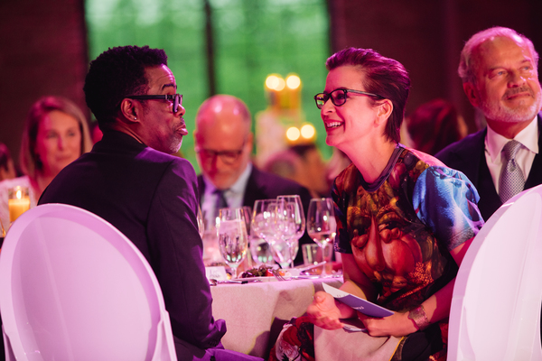 Chris  Rock  and  Artistic  Director  Anna  D.  Shapiro  Photo