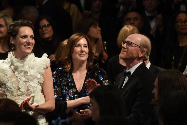 Phoebe Waller-Bridge, Kathleen Kennedy and director Ron Howard