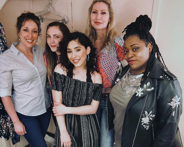 Photo Flash: Pop Singer/Songwriter Brielle Von Hugel Visits Cast of UNEXPECTED JOY