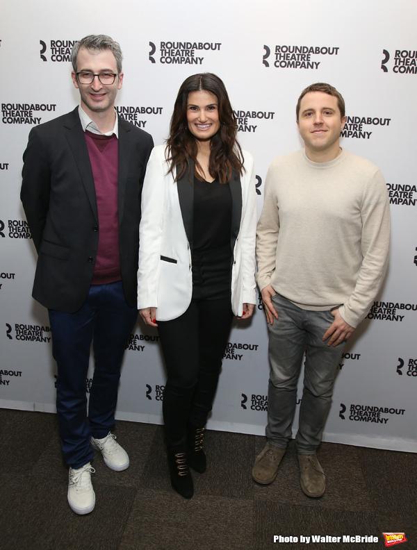 Director Daniel Aukin, Idina Menzel, playwright Joshua Harmon