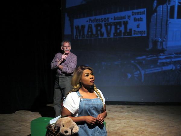 Taylor-Rey Rivera (Dorothy) and Daniel Fergus Tamulonis (Professor Marvel) Photo