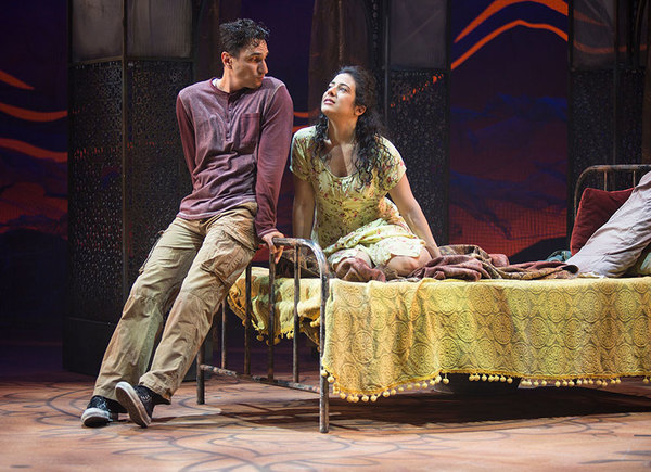 (from left) Antoine Yared as Tariq and Nadine Malouf as Laila