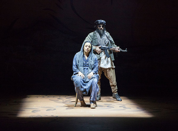 Denmo Ibrahim as Mariam and Haysam Kadri as Talib Soldier Photo