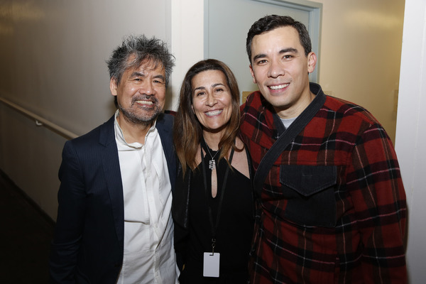 Henry Hwang, Jeanine Tesori and Conrad Ricamora