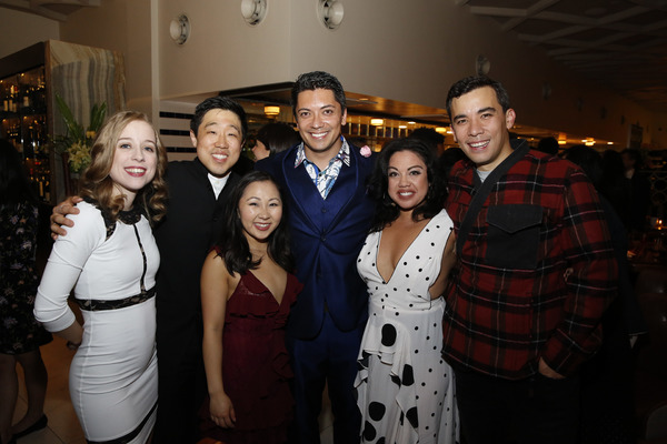 From left, cast members Alyse Alan Louis, Raymond J. Lee, Kendyl Ito, Jon Hoche, Maria-Christina Oliveras and Conrad Ricamora