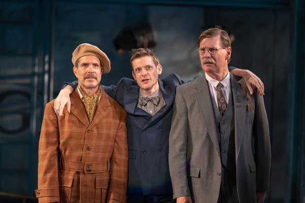 Ben Prayz (Roscoe Dexter), Brian Shepard (Cosmo Brown) and Leer Leary (R.F. Simpson)	 Photo