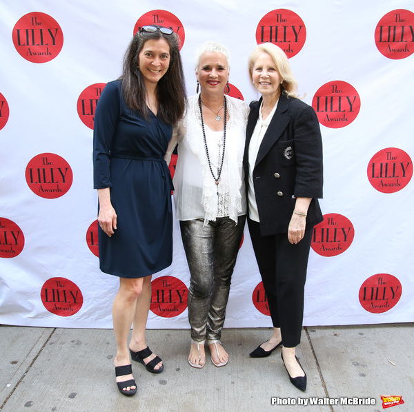 Diane Paulus, Eve Ensler and Daryl Roth