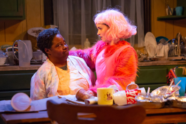 Patrena Murray and Reyna de Courcy in the hollower at New Light Theater Project at Access Theater. Photo by Hunter Canning
