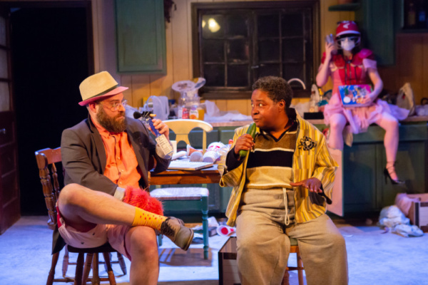 Ryan Wesley Stinnett, Patrena Murray and ToniAnne DiFilippo. in the hollower at New Light Theater Project at Access Theater. Photo by Hunter Canning