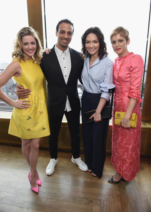 Taylor Louderman, Ari'el Stachel, Katrina Lenk, and Denise Gough