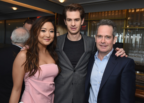 Ashley Park, Andrew Garfield, and Tom Hollander