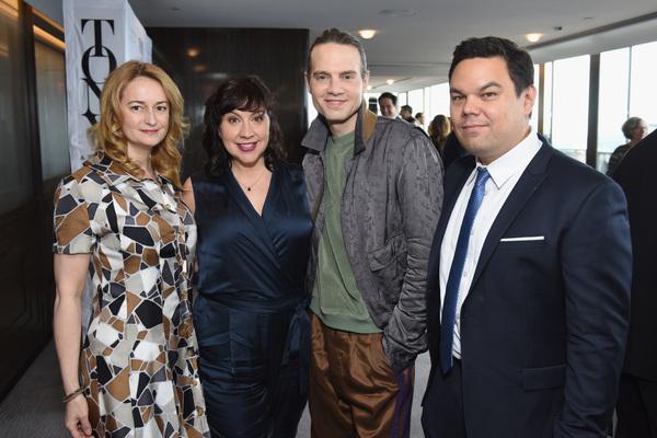 Nell Benjamin, Kristen Anderson-Lopez, Jordan Roth, and Robert Lopez