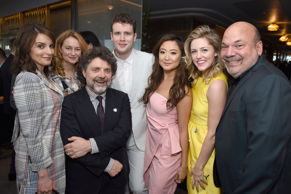 Tina Fey, Nell Benjamin, Jeff Richmond, Grey Henson, Ashley Park, Taylor Louderman, and Casey Nicholaw