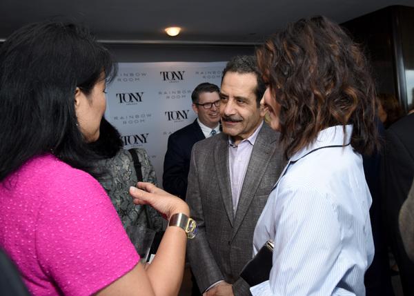 Tony Shalhoub and Katrina Lenk