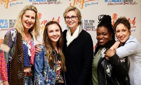 Photo Flash: Jane Lynch Visits Cast Of UNEXPECTED JOY
