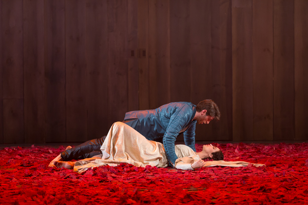 Nick Fitzer as Lancelot du Lac and Alexandra Silber as Guenevere in Lerner & Loewe's Camelot