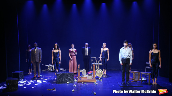 Teagle F. Bougere, Irina Dvorovenko, Peter Friedman and Tony Yazbeck with cast