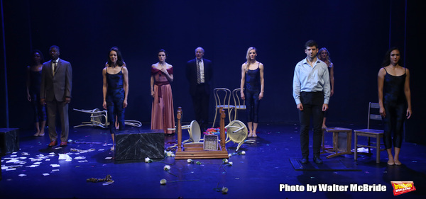 Teagle F. Bougere, Irina Dvorovenko, Peter Friedman and Tony Yazbeck with cast