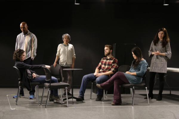 A sneak peek inside rehearsals for the World Premiere of Charise Green's Cannibal Galaxy: a love story with the cast,  Becca Schneider, Jason C. Brown, Jo Yang, Dominic F. Russo, Olivia Oguma, and Rob