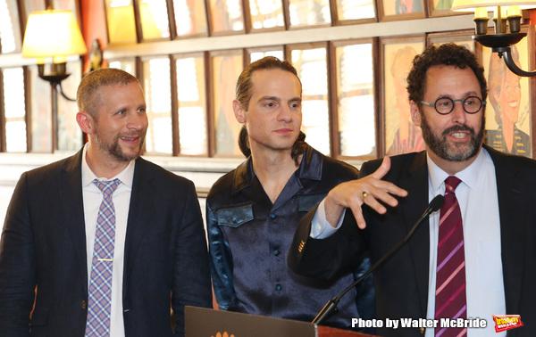Tim Levy, Jordan Roth and Tony Kushner