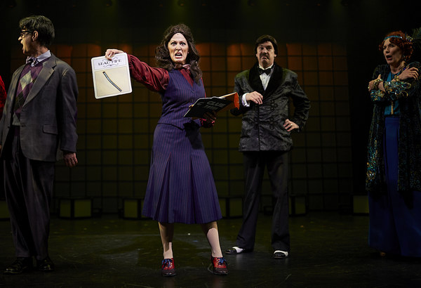 Scott Treadway, Maria Buchanan, Dane Whitlock and Marcy McGuigan in Clue the Musical at Flat Rock Playhouse
