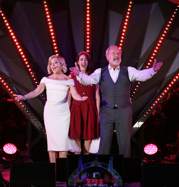 Jane Krakowski as Mrs. Potts and Kelsey Grammer as Lumiere