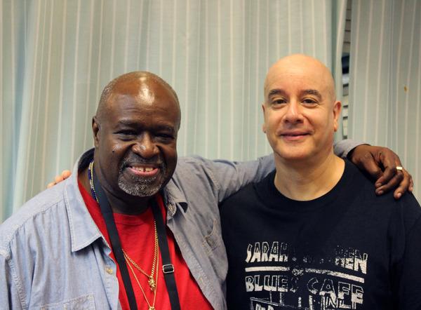 Akin Babatunde (writer/performer) and David Weiss (guitarist)