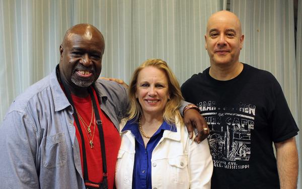 Akin Babatunde (writer /performer), Katherine Owens (director) and David Weiss (guitarist)