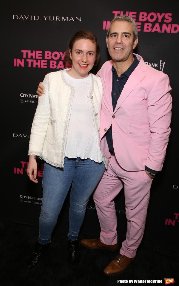 Lena Dunham and Andy Cohen