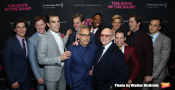 Matt Bomer, Brian Hutchison, Zachary Quinto, Mart Crowley, Joe Mantello, Tuc Watkins, Photo