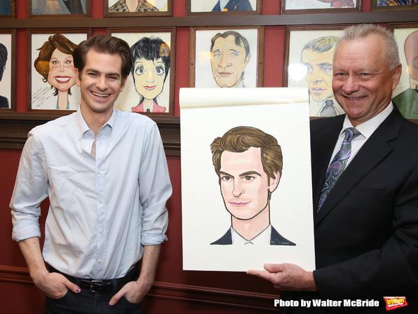 Photo Coverage: ANGELS IN AMERICA Star Andrew Garfield Celebrates His Sardi's Portrait!