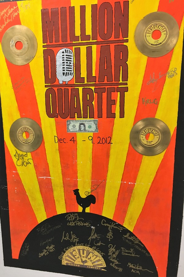 Million Dollar Quartet opened at DPAC on December 4, 2012, the anniversary of the infamous impromptu jam session of Elvis Presley, Jerry Lee Lewis, Carl Perkins, and Johnny Cash at Sun Records Studios in Memphis that inspired the musical.