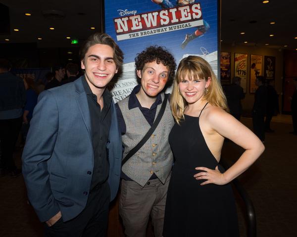 Dillon Klena, Austyn Myers, and Katharine McDonough