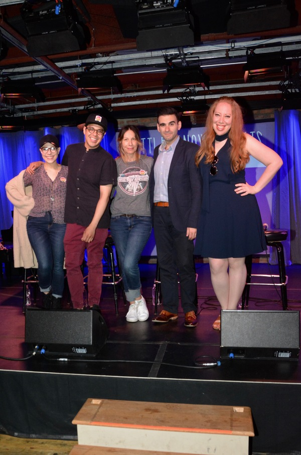 Lauren Marcus, George Salazar, Ilana Levine (Little Known Facts Host), Joe Iconis and Jennifer Ashley Tepper